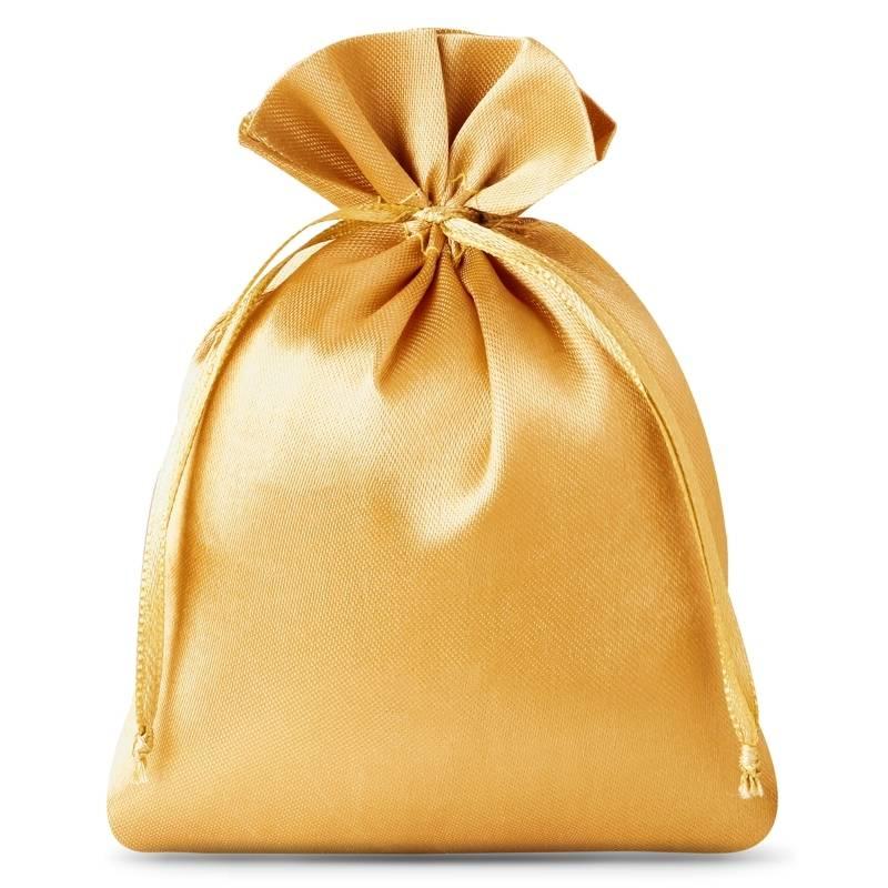 10 St. Satinsäckchen 6 x 8 cm - gold
