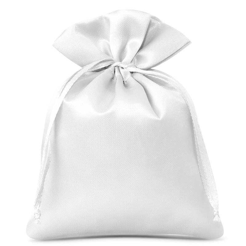 10 St. Satinsäckchen 6 x 8 cm - weiß