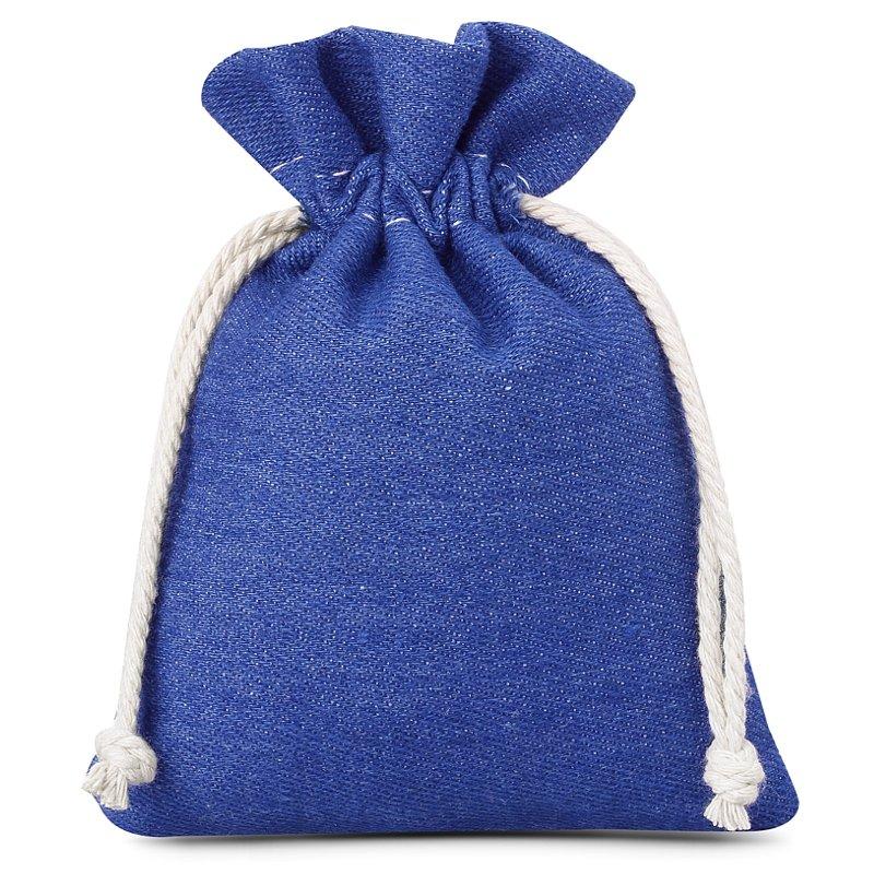 3 St. Jeans Beutel 12 x 15 cm - blau